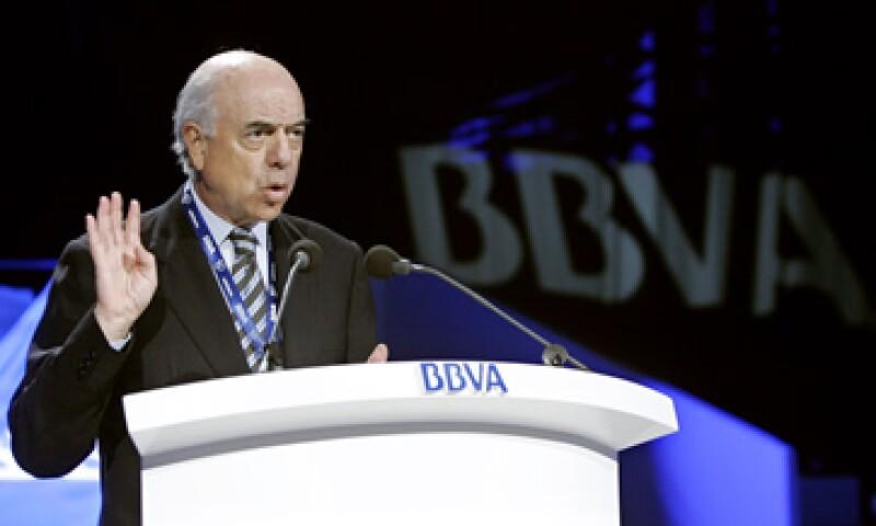 La entidad comandada Francisco González se vio afectada por la crisis europea. (Foto: Archivo AP)