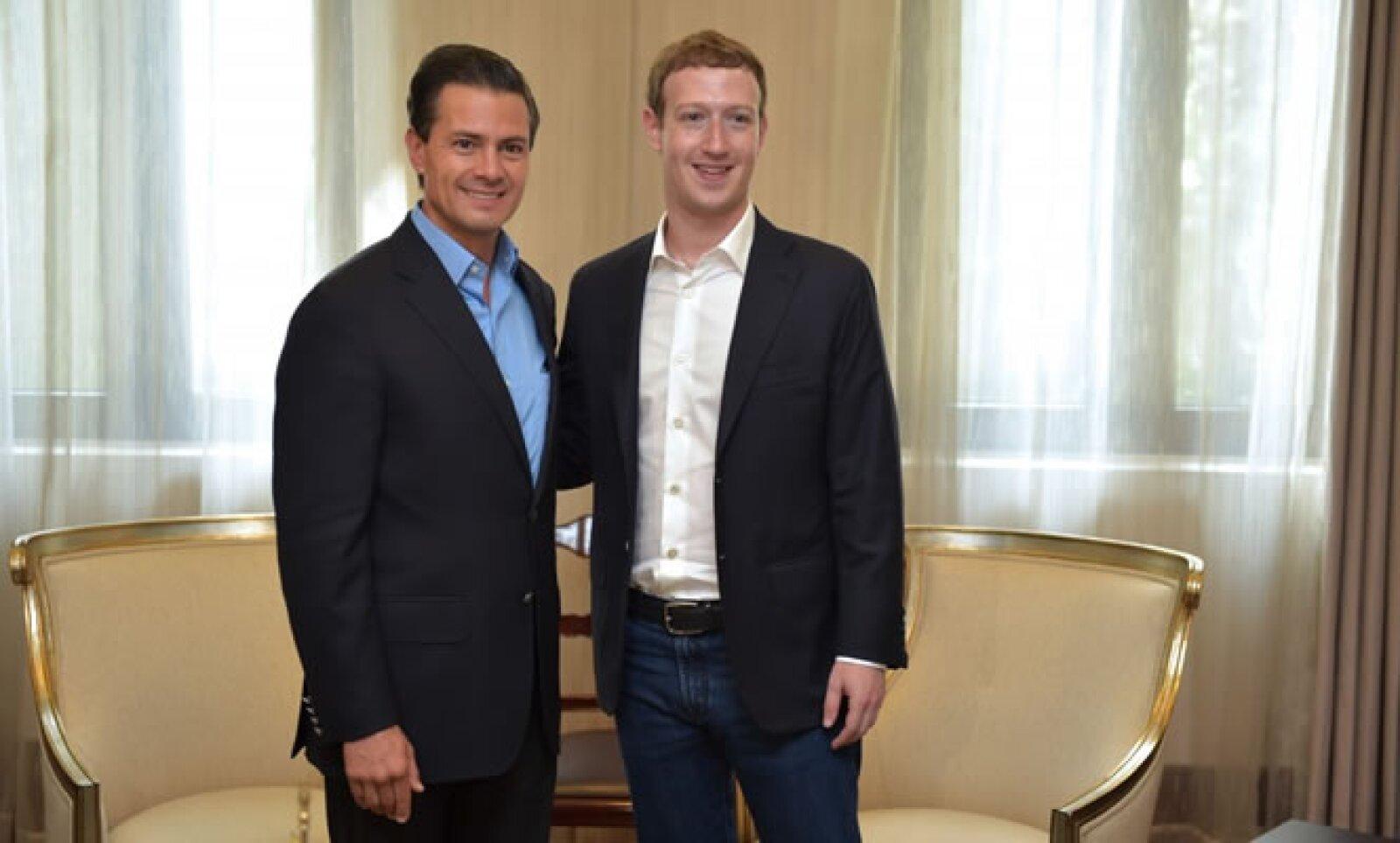 El fundador de Facebook participó en un evento organizado por Telmex.