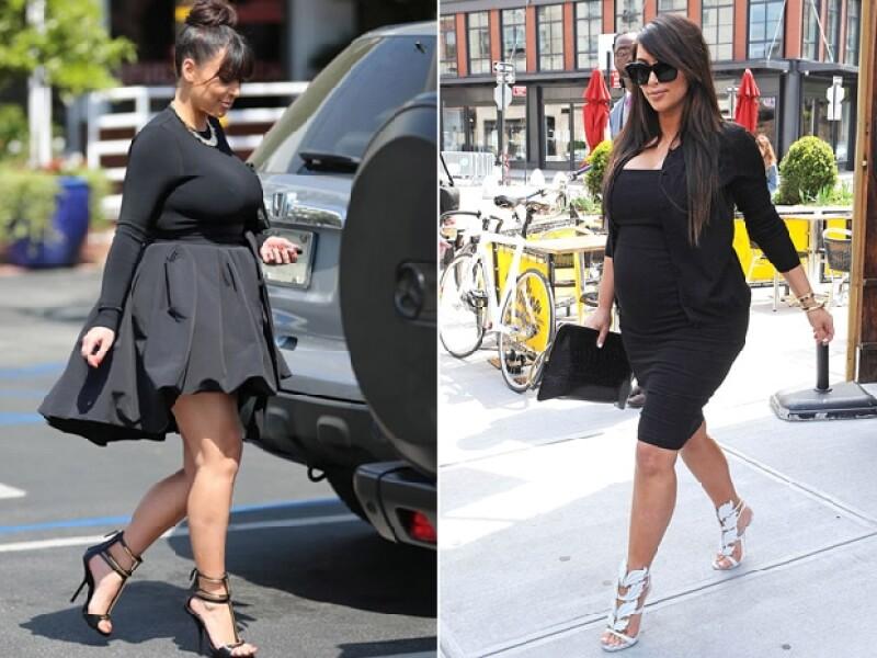 Kim Kardashian se caracterizó por su voluminoso embarazo. r vivir un