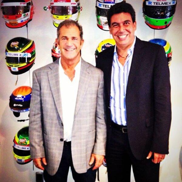 Con el actor Mel Gibson.