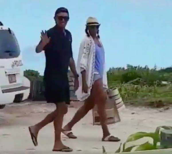 michelle y barack en el caribeb