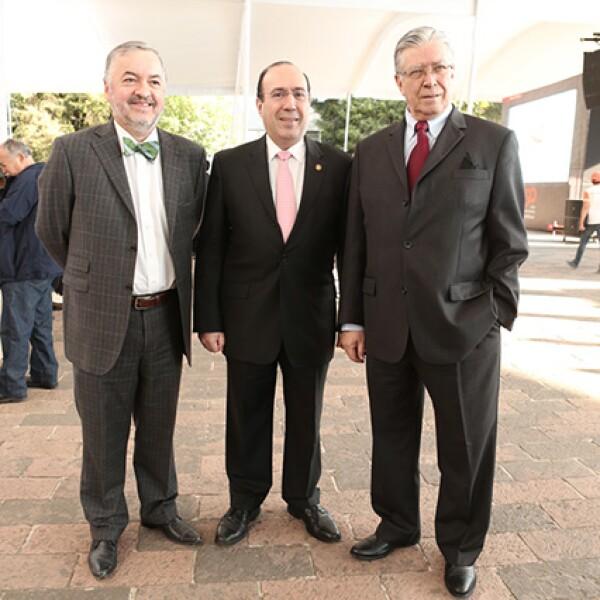 Francisco Madrid, Tomás Barrientos y José Gómez