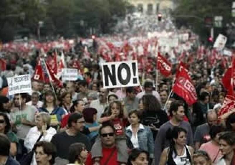 España vivió la semana pasada una jornada de protestas por las reformas laborales aplicadas por el Gobierno. (Foto: Reuters)