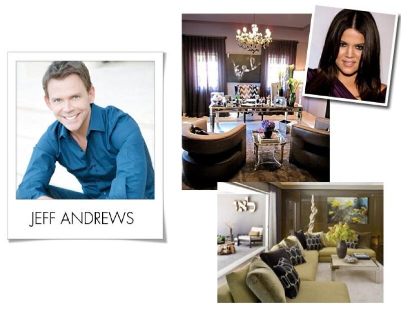 El responsable de las decoración de algunas de las hermanas Kardashian es Jeff Andrews.
