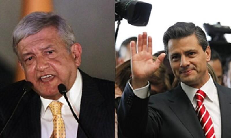 El CIDAC ve más afin la propuesta en materia de subsidios de Peña Nieto (der), y en el extremo opuesto a la de Obrador (izq). (Foto: Especial)