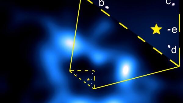 Esta es la primera vez que un telescopio capta cometas circundando la estrella HR8799.