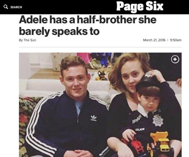 Adele y su hermano Cameron se conocieron en 2007.
