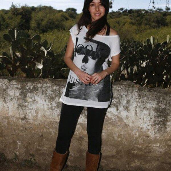 Cecilia Suárez es conciente del problema que tiene la tierra y para ayudar al planeta ha recomendado: `Apaga la luz, desconecta aparatos, camina. ¡Infórmate!´
