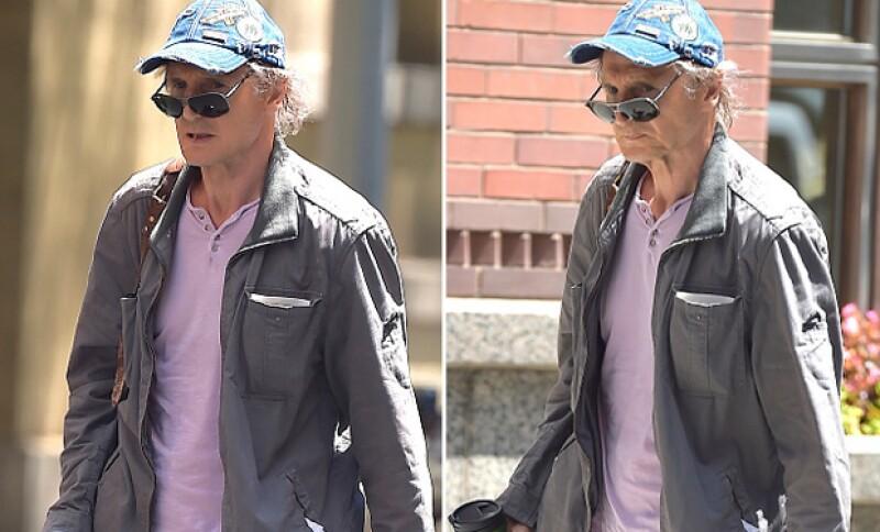 Liam Leeson lució completamente cambiado mientras iba caminando por las calles de Soho, en Nueva York.