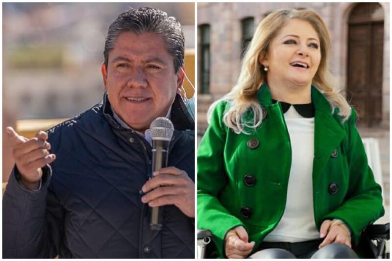 David Monreal y Claudia Anaya son los punteros en las encuestas en la contienda por la gubernatura.