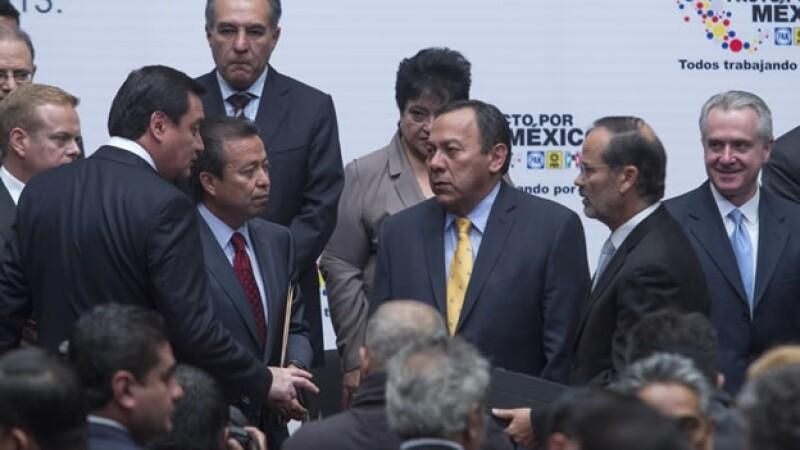 Líderes políticos en el Pacto por México