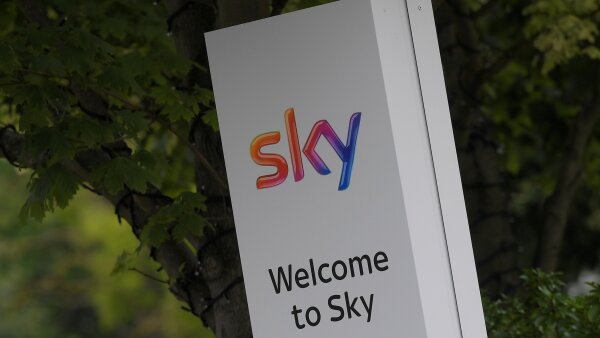 FILE PHOTO: Sky News logo is seen in west London