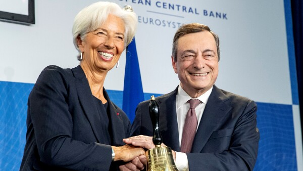Mario Draghi Christine Lagarde