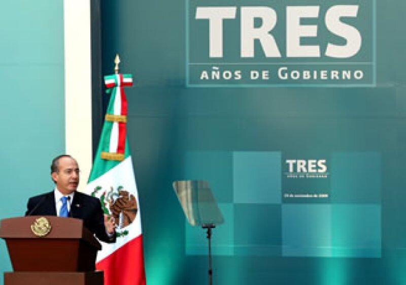Calderón dio un mensaje sobre el balance de sus tres años de gobierno. (Foto: Notimex)