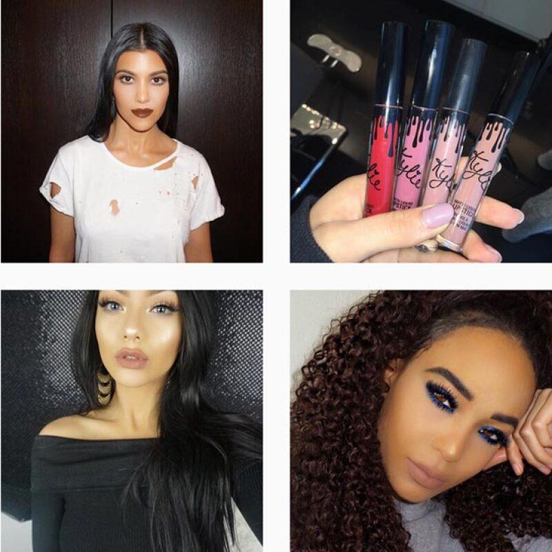 Kylie se ha apoyado en sus hermanas y amigas para dar imagen a sus productos.
