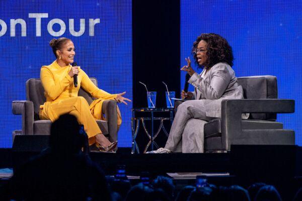 Jennifer Lopez y Oprah Winfrey