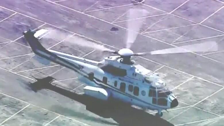 El papa Francisco arribó al helipuerto de Ecatepec en el Estado de México, a las 10:45 de la mañana.