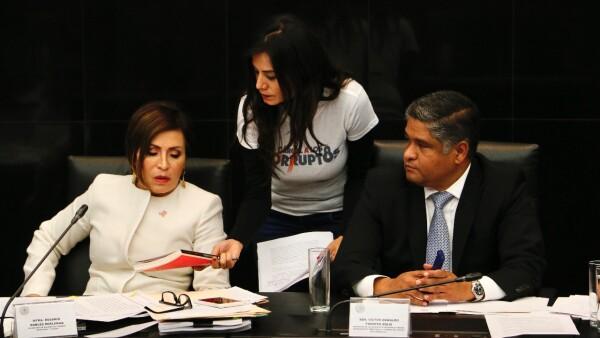 Rosario Robles en el Senado