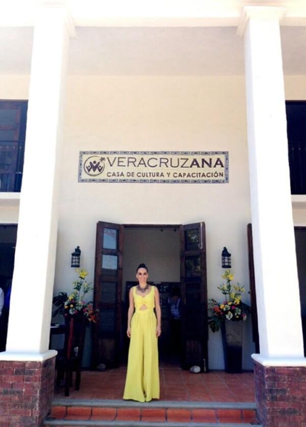 Este año Ana inauguró una casa de cultura y capacitación en Antigüa, Veracruz.