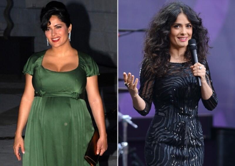 Salma recordó su embarazo durante una entrevista y es que subir de peso, la hizo apreciar más su figura.