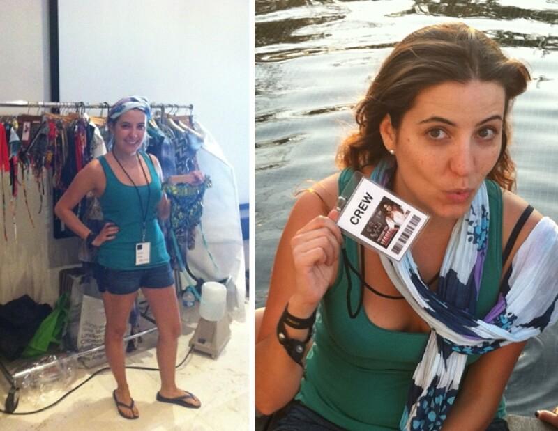 Inés Barona fue la encargada de vestir a todas las modelos en la escena de la alberca.