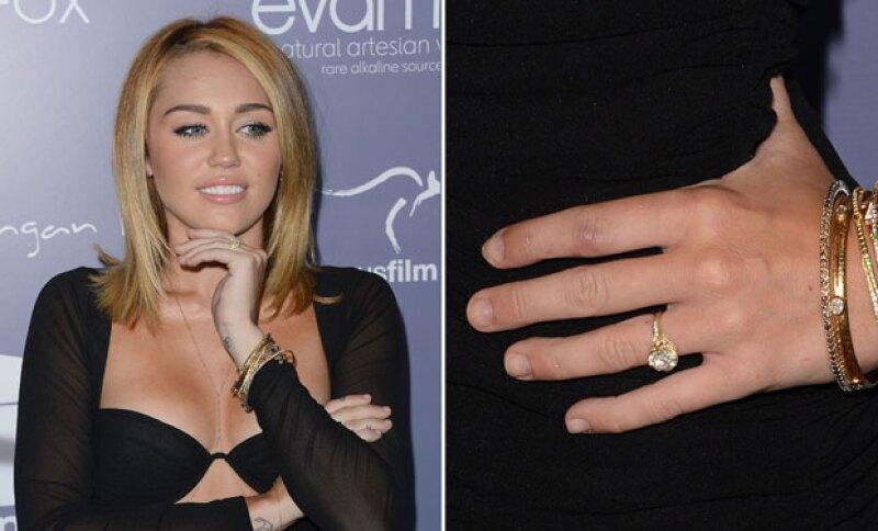 Liam se le propuso a Miley en 2012.