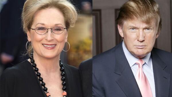 La actriz se personificó como el candidato republicano en un falso debate con Christine Baranski actuando como Hillary Clinton.