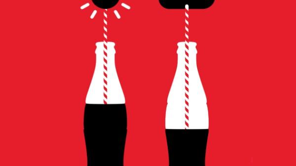 Mash-Up de la botella Coca-Cola