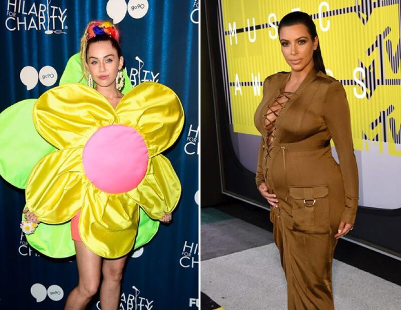 Kim Kardashian y Miley Cyrus encabezan la lista de las peor vestidas del año pasado en la Pasarela del Infierno... Conoce a las demás.