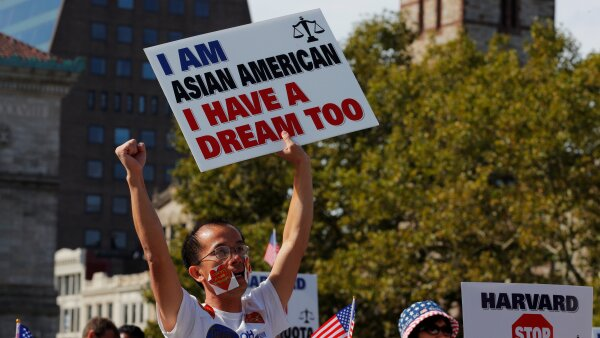 """Supporters attend the """"Rally for the American Dream - Equal Education Rights for All"""" in Boston"""