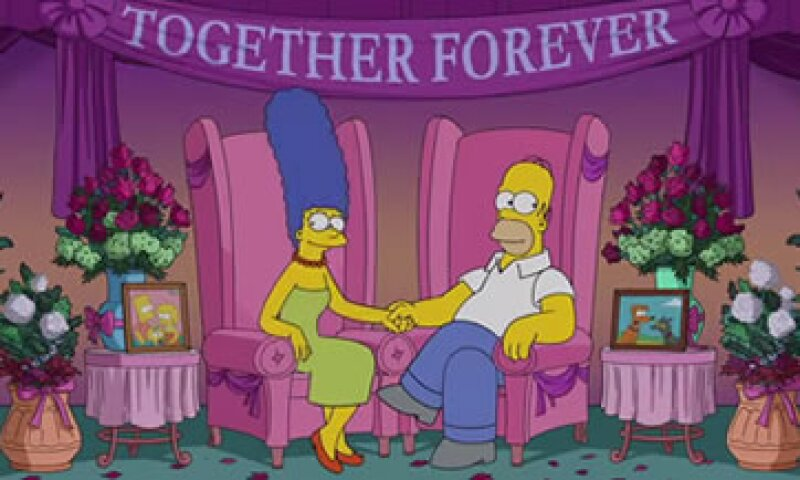 Homero y Marge despejaron los rumores sobre su presunta separación. (Foto: YouTube/AnimationDomination )