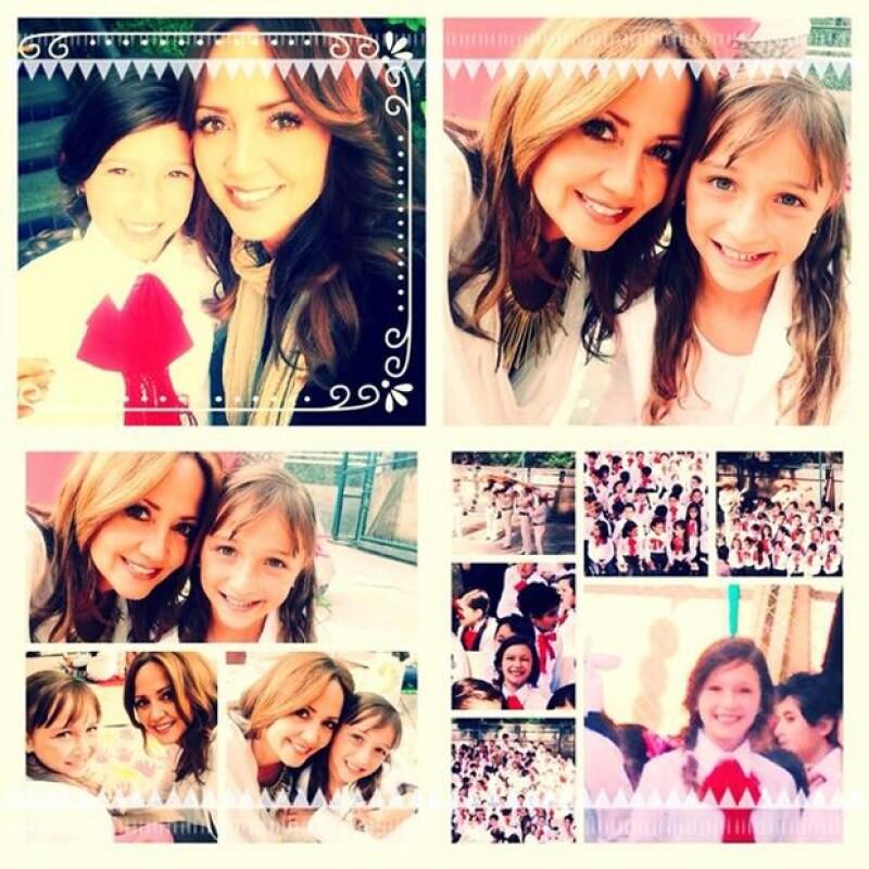 La conductora del programa Hoy publicó este collage de imágenes suyas con Mía y Nina.