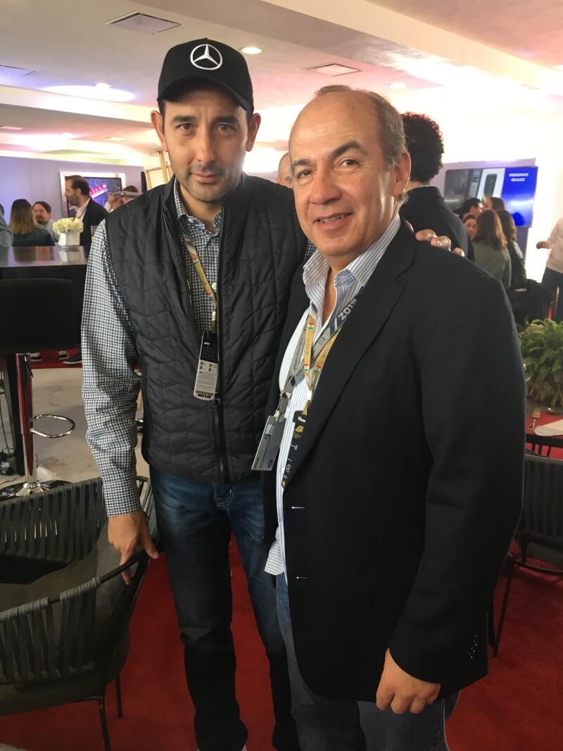 Roberto Gil Zuarth y Felipe Calderón.