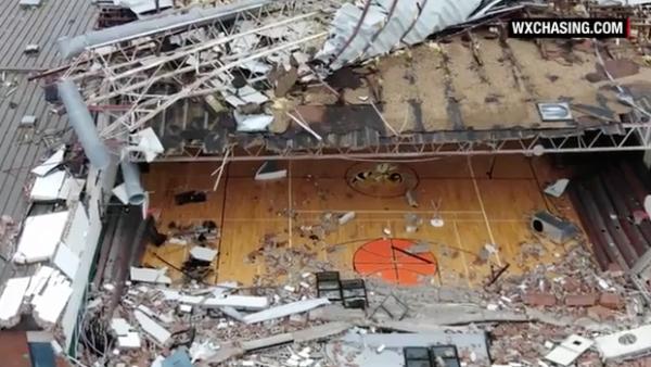 Un dron capta las imágenes tras el paso de Michael en Panama City, Florida