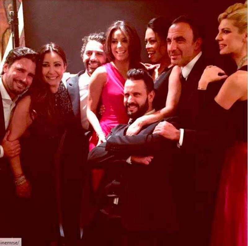 La actriz y el directivo mexicano derrocharon glamour y elegancia en la gala benéfica celebrada en París, en la que ella fue la anfitriona.