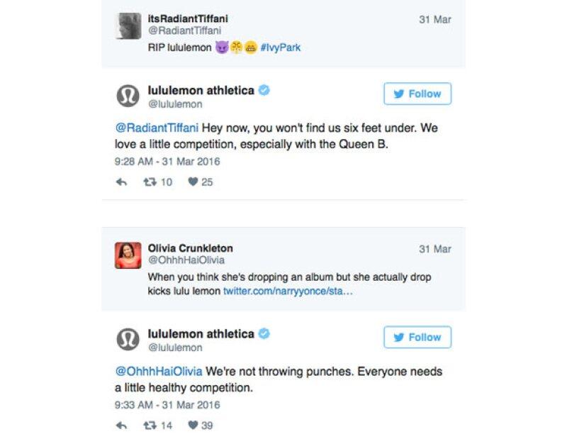 La conversación por twitter entre fans y la marca canadiense