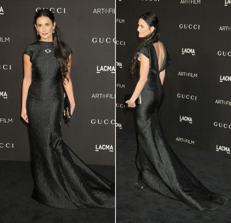 Elegante en un black dress, Demi en una gala de 2014.