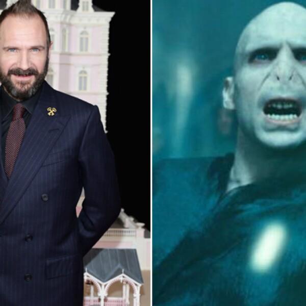 Ralph Fiennes fue el lienzo blanco para los caracterizadores de Harry Potter quienes hicieron un trabajo impresionante para darle vida a Voldemort.