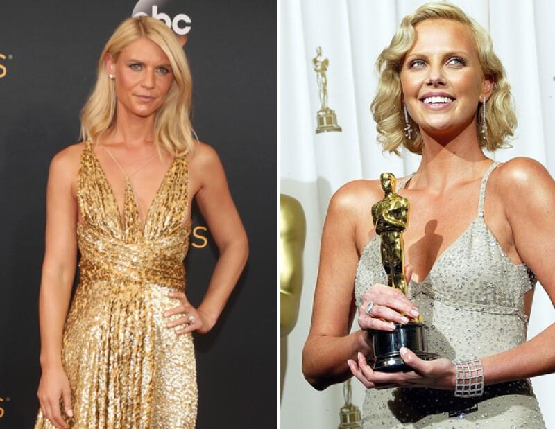 Aunque su vestido Schiaparelli nos enamoró, el tono de su piel nos recordó al look de Charlize Theron en los Oscar de 2004.