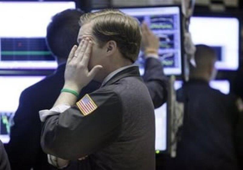 El mercado estadounidense estuvo la mayoría del tiempo en terreno negativo. (Foto: AP)