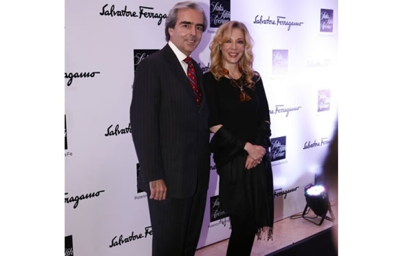 La pareja en la alfombra roja de la presentación de la nueva colección de Salvatore Ferragamo.