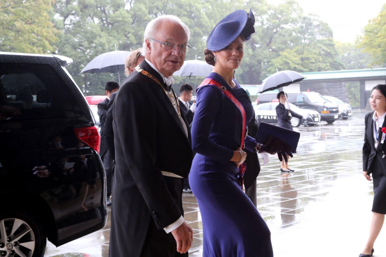 Rey de Suecia Carlos Gudtavo XVI y la princesa heredera Victoria