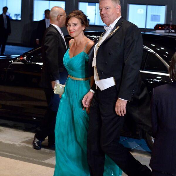 El presidente rumano Klaus Iohannis y su esposa Carmen liohannis