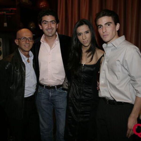 Oscar Román, Rafael Tovar, Marimar Turati, Julio Azcárraga