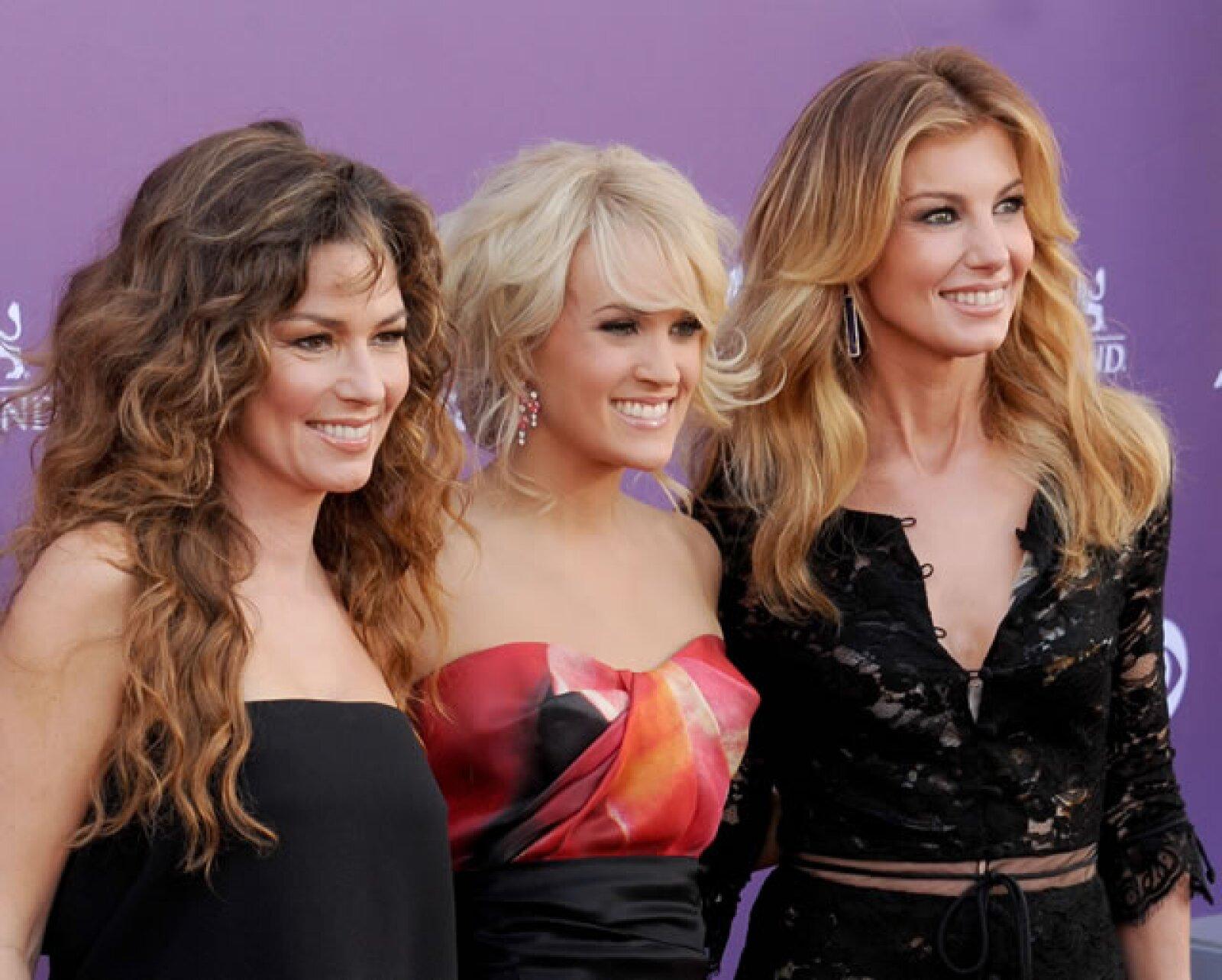 Shania Twain, Carrie Underwood y Faith Hill