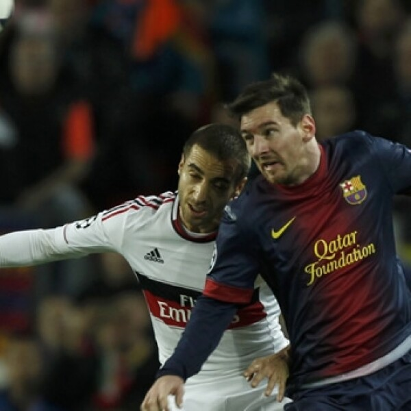 barcelona vs milan- champions, messi