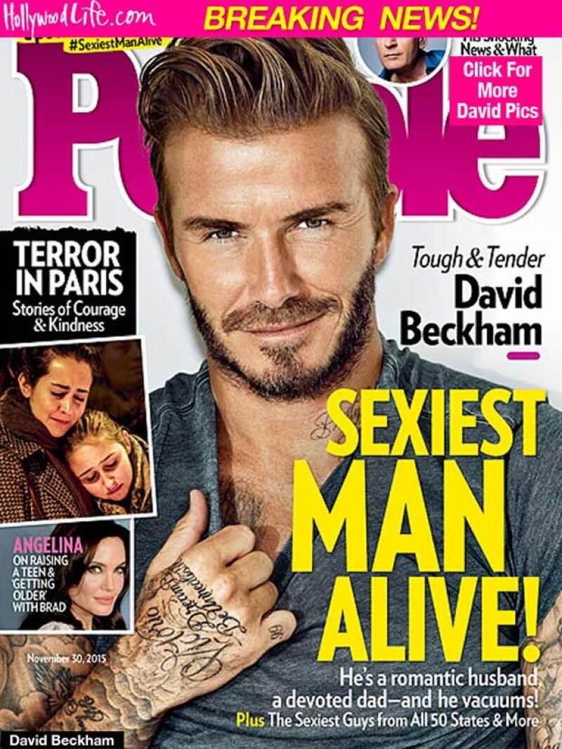 El ex futbolista fue elegido por la revista People como el hombre más sexy del mundo.