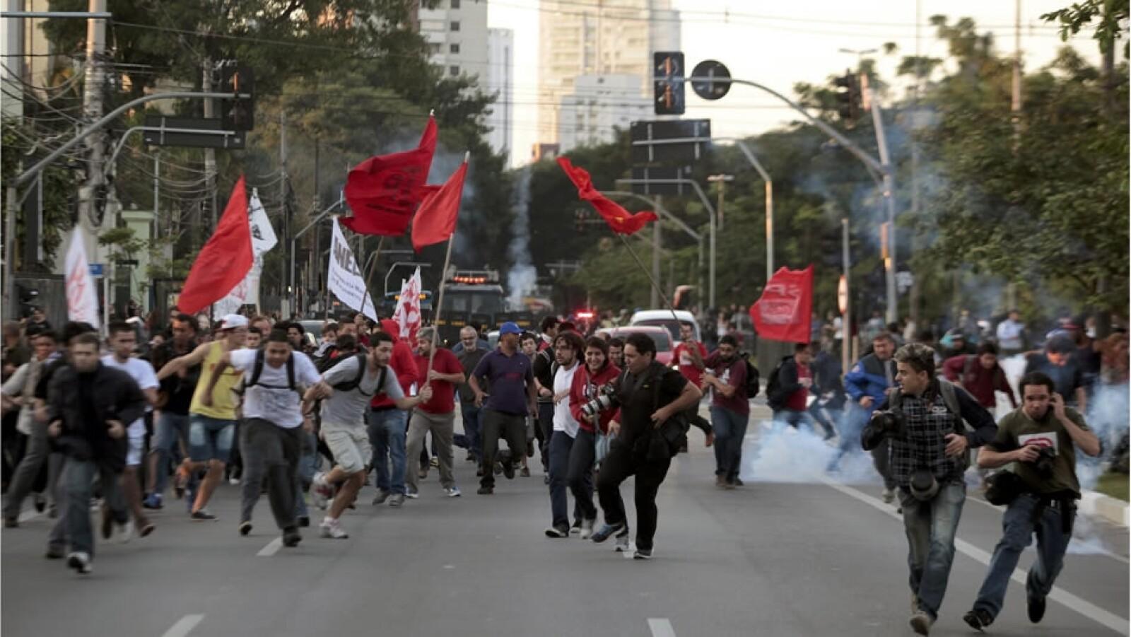 protestas Sao Paulo huelga 1