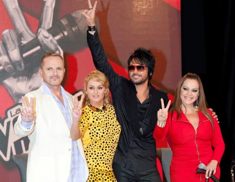 Anoche Paulina Rubio, Miguel Bosé, Beto Cuevas y Jenni Rivera platicaron de su papel en la segunda temporada del reality musical.