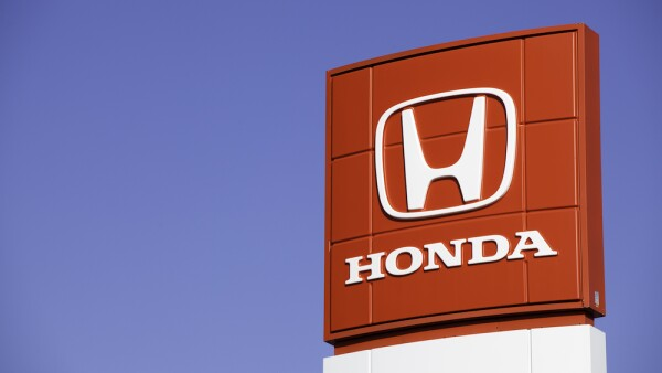 Honda Sign at Car Dealership
